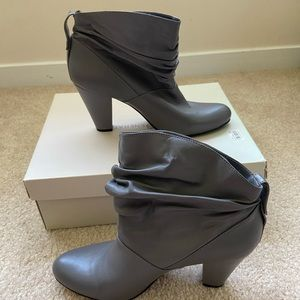 BCBG Generation Grey leather ankle boots